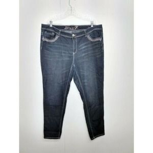 Seven & 7 WM Plus Skinny Denim Studded Pocket Jean